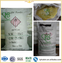 rubber and tire use refined sulfur powder