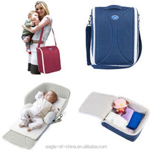 2 In 1 Infant Portative Foldable Beds Mommy Diaper Travel Storage Bag Baby Cribs