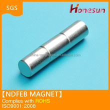 rare earth N42 ndfeb magnet cylinder shape DD6.2X20mm in stock for sale