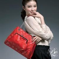 New look chain handle multiway diamante leather handbag
