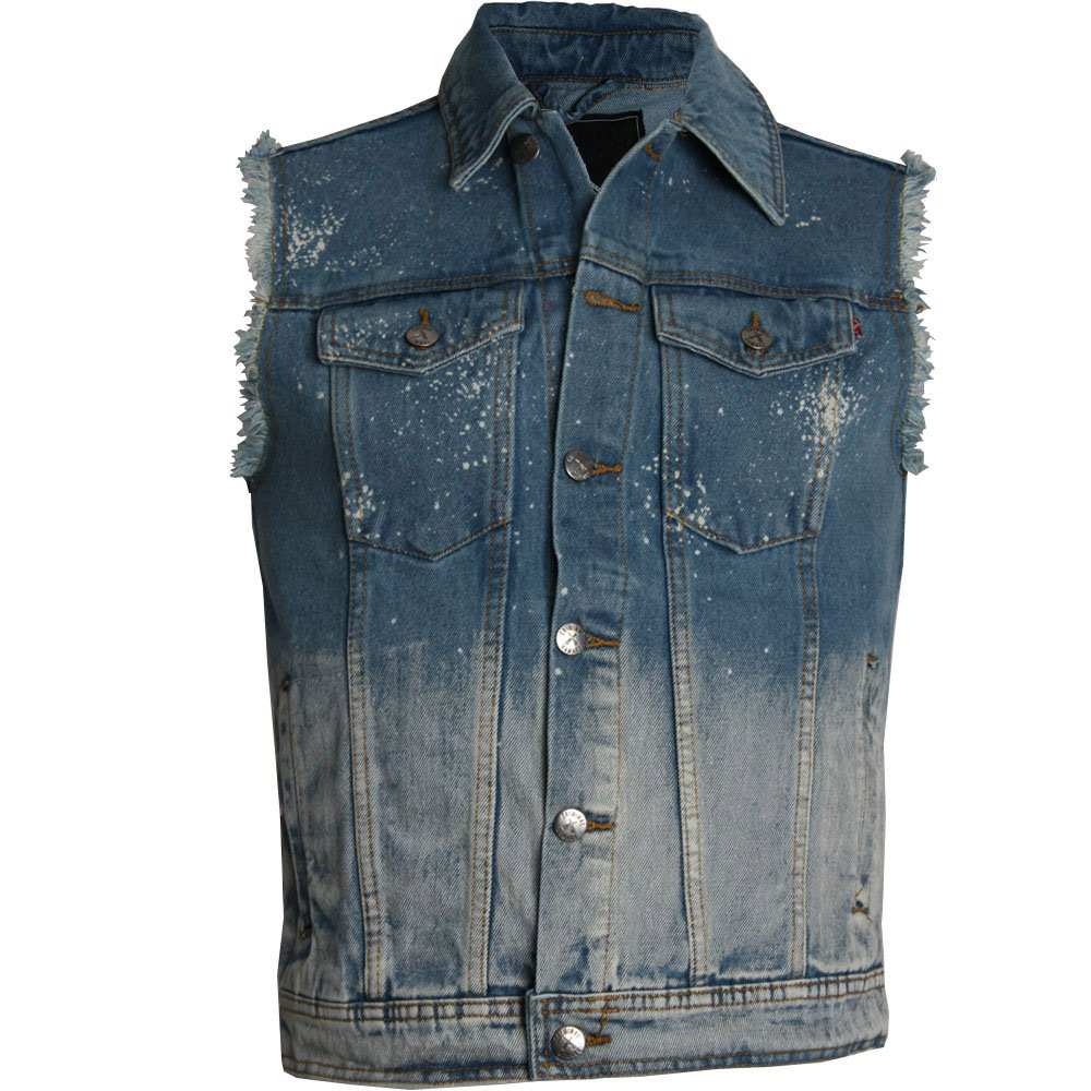 Jean Jacket Without Sleeves - Coat Nj