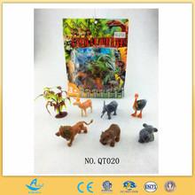 wild animal toy plastic pvc solid animal toy