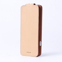 luxury litchee skin real genuine leather top flip case for iphone 6 up to down flip case