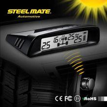 2015 SteelmateTP-S1 solar power tpms 58 psi valve caps pressure indicator, belt cutter led, car hud