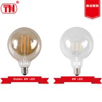New type 600lm 800lm 1000lm g125 led bulb 5w 6w 8w filament led