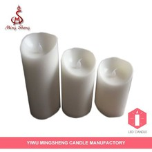 New product 3pcs flameless moving wick led candle