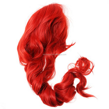 80cm High Quality Long Curly Costume Fairy Tail Cosplay Wig Red