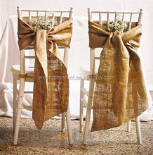Rustic Wedding Burlap Chair Sash