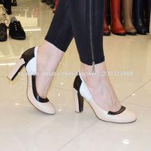 Oficina elegantes zapatos de cuero de tacón Medio Fábrica