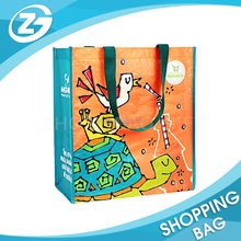 Zoo Promotional Gifts for Tourists Shopping Bag PP Woven 4 Color Laminated