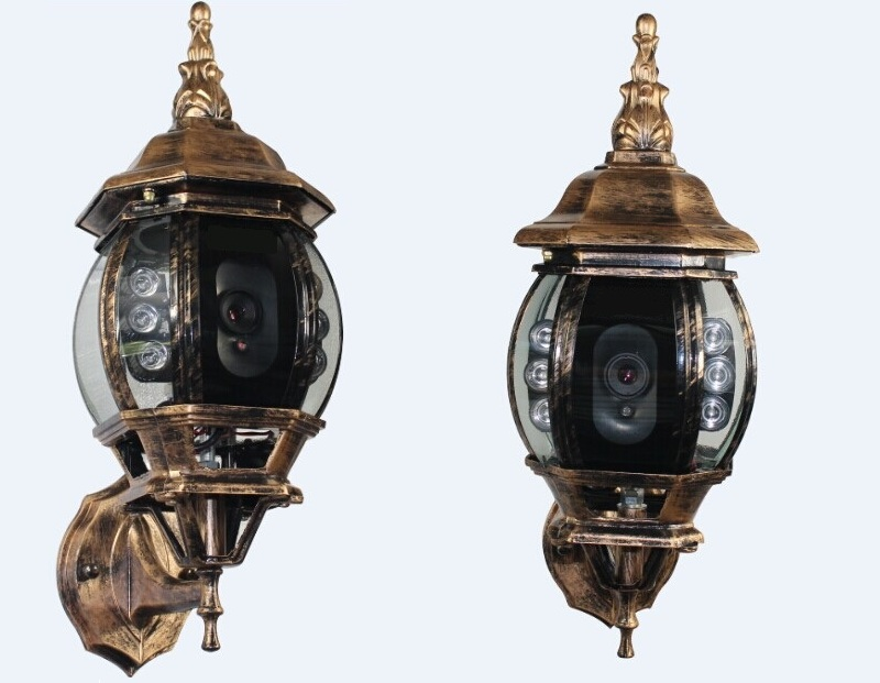 outdoor security camera hd 1080p street light hidden ip camera. Black Bedroom Furniture Sets. Home Design Ideas