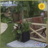 GF1-Classical modelling beautiful white rectangular flower pot&self-watering pot &square plastic flower pot