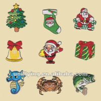 Different christmas embroidery patches, small animal embroidery patches