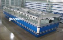 supermarket jumbo island freezer automatic defrost