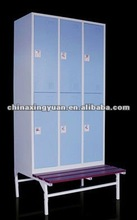 six door steel locker with bench for Lab Gym Clab