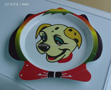 Factory price fancy dog shape cheap melamine pet bowl