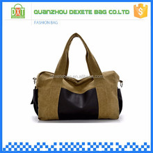 Shoulder strap tote short trip outdoor stylish duffel canvas overnight bag