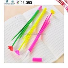 Rubber Flower Ballpoint Pen Flower Plastic Pen