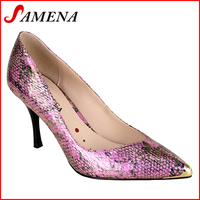 High heel metal toe women pumps ladies shoes with pointed toe