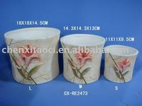 Colourful clay flower pots wholesale -ceramic flower pot,garden flower pot,flower planter