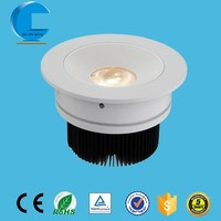 cut-out 89mm pure aluminum ring recessed ceiling led light, led ceiling lamp