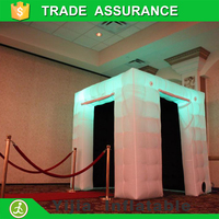 free shipping custom made portable cheap mobile tent inflatable photo booth
