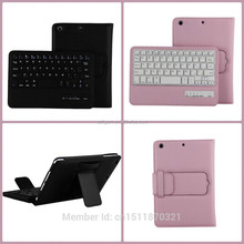 8' V3.0 removable wireless bluetooth keyboard leather for ipad mini 3 tablet protective case