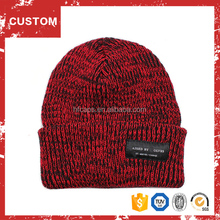 Red and black mixed plain custom crazy winter hats