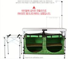 เกาหลีออกแบบห้องดีลักซ์ผ้าการตั้งแคมป์พับครัวตู้ประตูบานพับประเภท