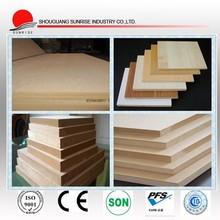 De alta qualidade cru mdf / grão de madeira placa de mdf