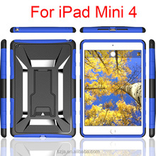Iron Man design slim armor back protector case for ipad/ for ipad mini4 smart hybrid case
