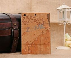 Map Grain Leather Case For Ipad Mini 2 Ancient Style Leather Case