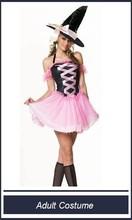 rosa e nero strega costume con cappello