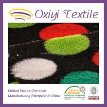 cheap price circle printing coral fleece polyester fabric