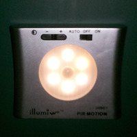 motion auto dimming light with sensor