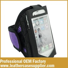 factory OEM waterproof leather phone armband case for sport