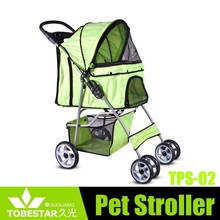 Durable Small Dogs and Cats Pet Stroller Green Dog Backpacks Jogging Carrier