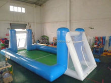 inflatable water football , LZ-522 arch entrance inflatable football field with goals