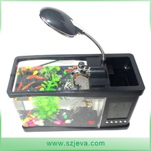 Fashion led light mini fish tank small USB desktop aquarium