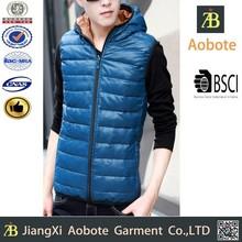 2015 best price man outdoor light slim-fitting down vest