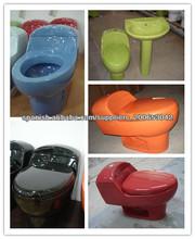 la una sola pieza siphonic de las mercancías sanitarias de cerámica coloreó el tocador A1003-T