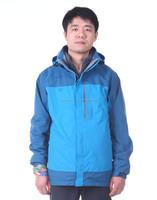 Mens 3-in-1 Outdoor Waterproof Mens Windbreaker With Fleece Liner Jacket