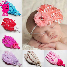2015 Fashion Baby Girl Feather Headband Infant Baby Fashion Hair Band Girl Head Accessories Baby Photo Props