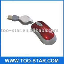 3d Mini Mouse with Retractable Cable