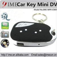 Shenzhen factory wholesale 909 Car Key video Camera Mini DV Camcorder video recorder keychain support micro SD card