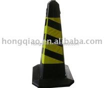 Black Plastic&Rubber Reflective Flat Traffic Cone