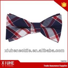 Popular British style pre-made plaid bow ties