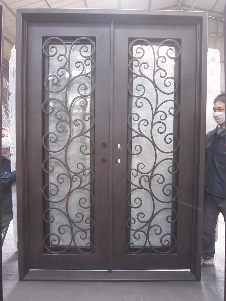Dessins de s curit en fer forg porte en verre pour porte de fer conception portes id de for Dessin en fer forge