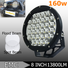 Guangzhou Auto Parts High Power 13800LM 160W LED Work light, 8 inch 160w LED Driving Light for 4X4