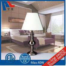 Metal Table Lamp With Fabric Lampshade
